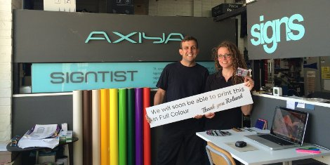 Axiya Signs was the lucky grand prize winner and opted for the TrueVIS VG-540.