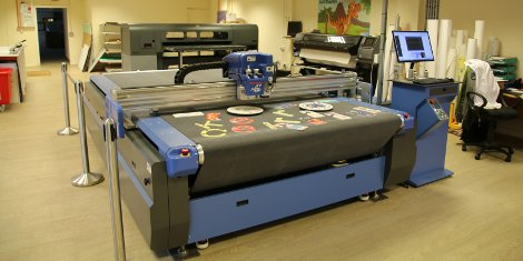 """We have been hugely impressed with the DYSS X7. It is the ideal complement to our roll fed and flat bed printers as the bed dimensions are a perfect fit and its powerful cutting head can easily process all the different material types we throw at it."" says Mr Mike Lammas, Collisons General Manager."