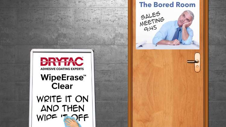 WipeErase Clear enables print service providers to quickly and easily create custom-printed, removable, high quality, dry erase graphics that stick to virtually any smooth surface.