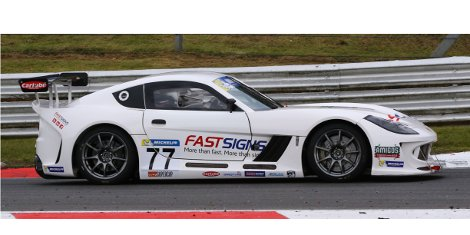 Fastsigns franchise owner Mark Davies recently finished third in the Ginetta Supercup's race at Oulton Park racing track and is on course for more success as the competition continues.