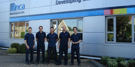 (from left to right) Tom Brooks, Zack Taylor, David Saville, Russell Davis and Sam Maskell.