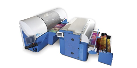 With its print width of 1.8m, the Kornit Allegro is the world's only single-step digital textile printing system