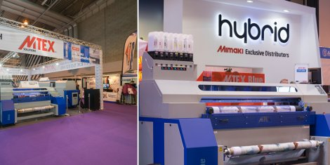 The MTEX Blue can be seen on the MTEX stand (C10) with pigment inks