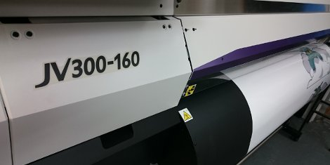 The Mimaki JV300-160 is capable of producing wider output for QQD Design & Print.