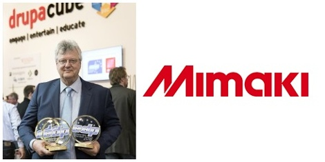 The awards were accepted by Mike Horsten, General Manager Marketing of Mimaki EMEA, at a special ceremony held during drupa 2016.