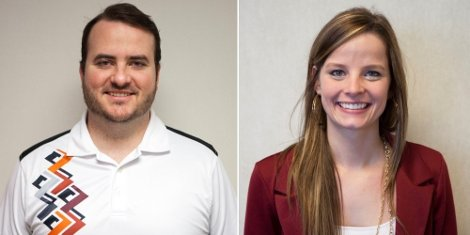 Sam Evans (left) and Jordyn Ruhnke (right) join the Nazdar SourceOne Inside Sales team