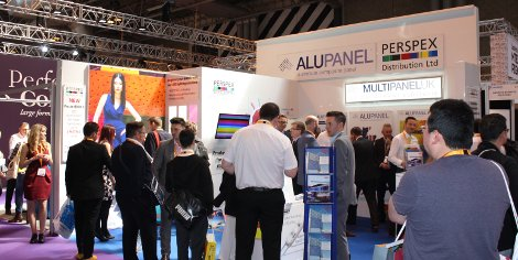 The Perspex Distribution stand was busy throughout Sign & Digital UK 2016