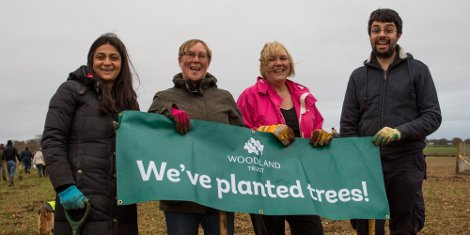 Premier Paper plants a further 5000 trees in Woodland Trust initiative