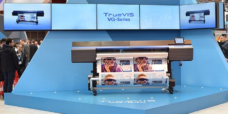 The global launch of Roland DG's TrueVIS VG Series print and cut machines at Fespa Digital 2016