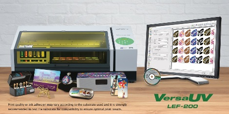 Roland DG has announced the VersaUV LEF-200 flatbed printer