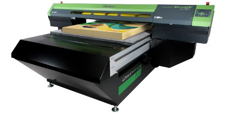 The new VersaUV LEJ-640FT flatbed UV printer from Roland DG