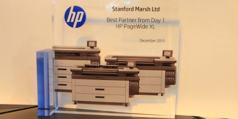 Stanford Marsh Ltd. has been named 'Best Partner from Day One for HP PageWide XL Technology'.