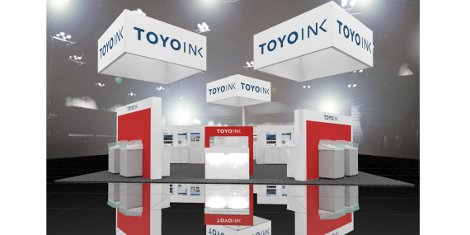 Rendering of the Toyo Ink Group booth at drupa 2016