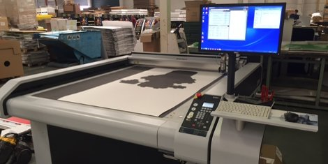 Nene Packaging's newly installed Zünd S3 digital cutting table enables low-cost production