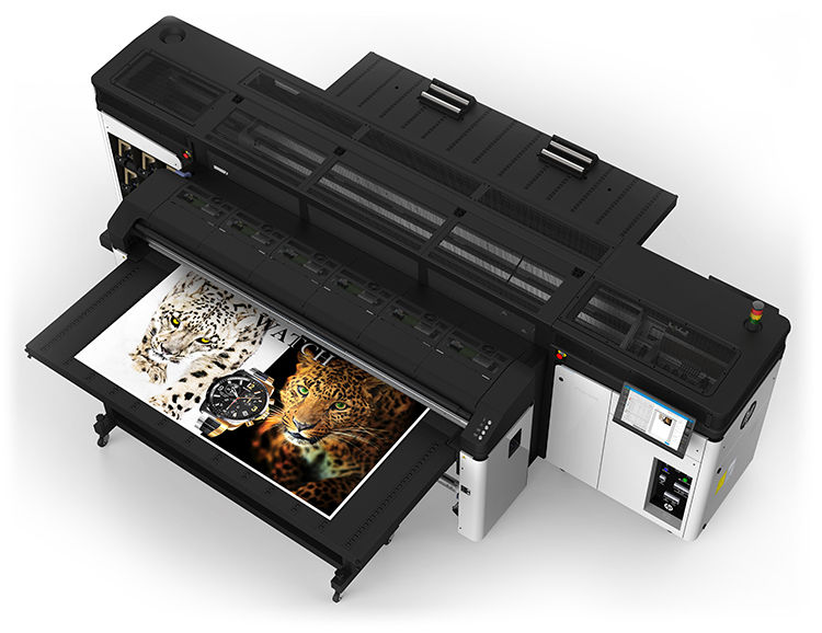 hp latex r series r2000 rigid printer overhead
