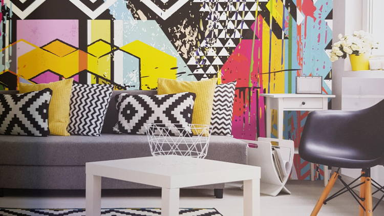 Design world love the concept of structured wallpaper.