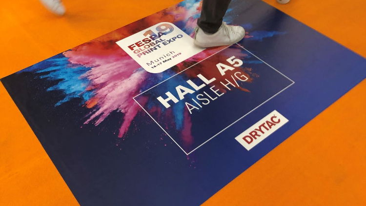 Drytac offers advice on choosing floor graphics solutions for new carpets - a potentially tricky installation surface.
