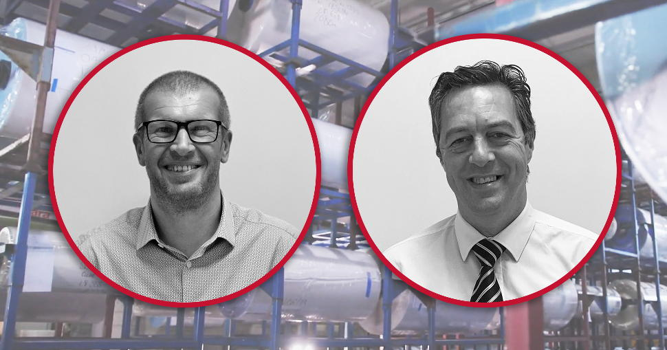 Phil Webster promoted to Head of Industrial Sales EMEA; Stephen Ridyard appointed as Technical Manager.