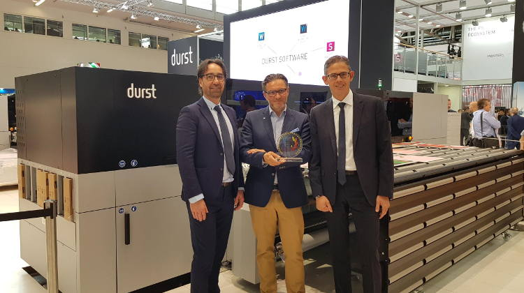 Durst P5 350 hybrid production platform wins EDP award.