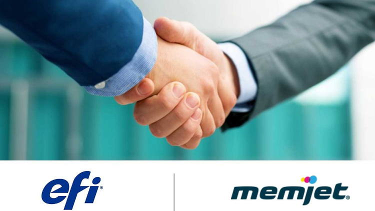 EFI and Memjet establish partnership for fast, high-quality digital production.