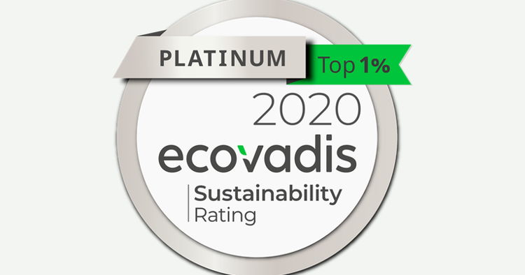 Epson achieves EcoVadis Platinum for sustainability - Award places Epson in top 1% technology companies for sustainability.