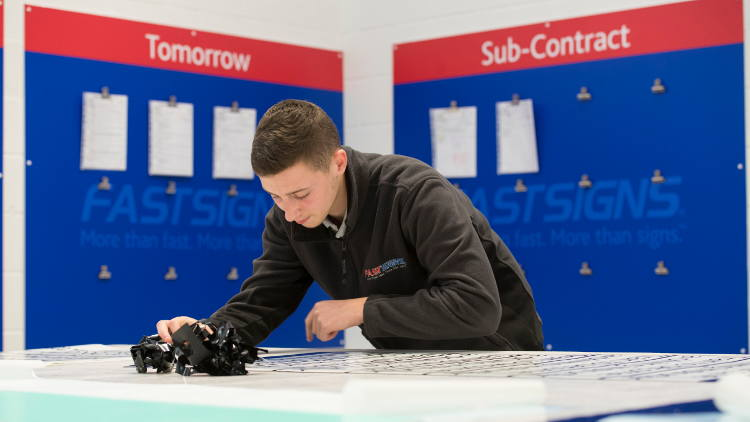 FASTSIGNS UK has reported a double-digit increase in sales revenues for their UK franchisees.