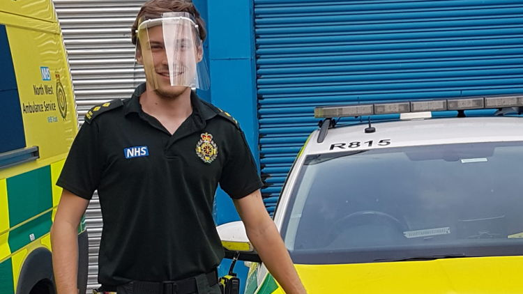 British companies pull together to produce visors for NHS within hours.