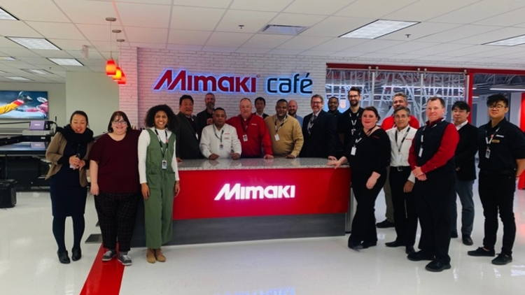 Mimaki USA celebrates grand reopening of New Jersey Technology Center.
