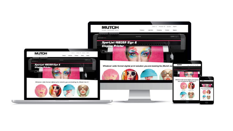 Mutoh Europe nv, EMEA subsidiary of the Japanese wide-format digital printer manufacturer, announces the release of a dynamic new on-line presence.