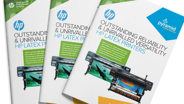Pyramid Display Materials appointed authorised reseller for HP Latex.