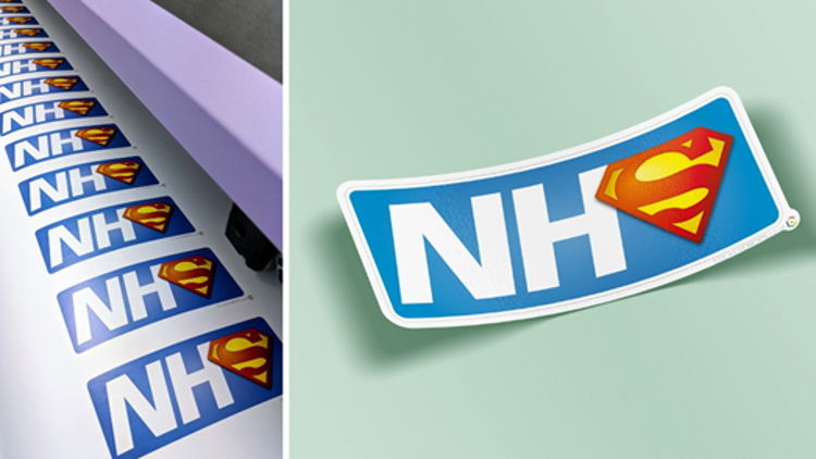 Stickerdrops helps local NHS staff fly high with fundraising sticker campaign.