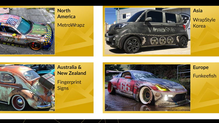 "Four Continent Winners Announced in Avery Dennison ""Wrap Like a King"" Challenge."