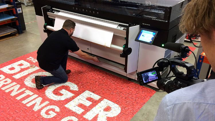 Representing the UK in an International UVgel Technology Project with Océ and Canon Ahead of SGIA EXPO.