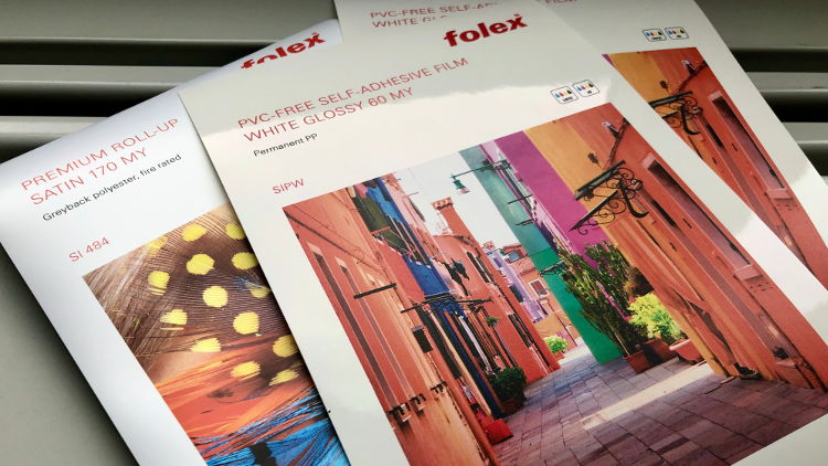 Folex proudly presents at FESPA its wide media assortment for large format ink jet printers.