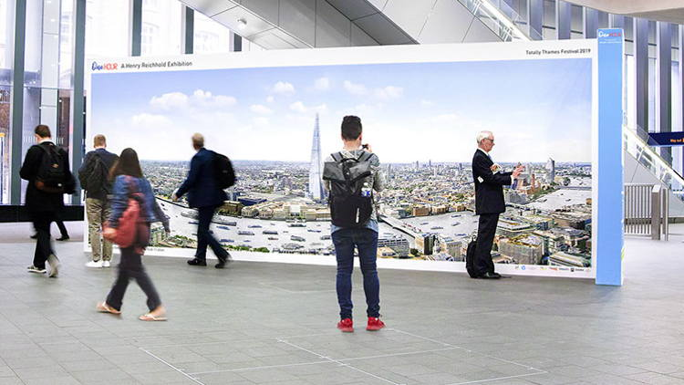 HP partners with Totally Thames Festival to bring large-scale photo exhibition to London Bridge Station.