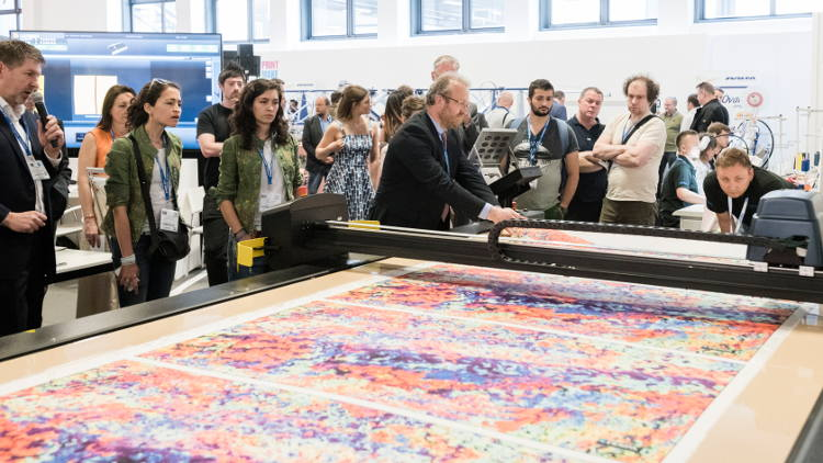 Print Make Wear fast fashion factory doubles in size at FESPA Global Print Expo 2019 to meet high levels of visitor interest.