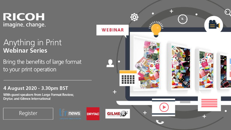 Anything in Print! Ricoh to host new webinar on potential of wide format print.
