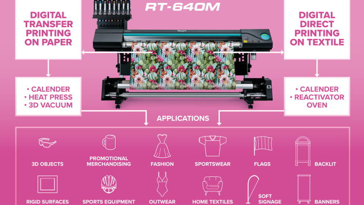 Roland DG puts textile printing at centre stage at The Print Show's Diversification Zone.