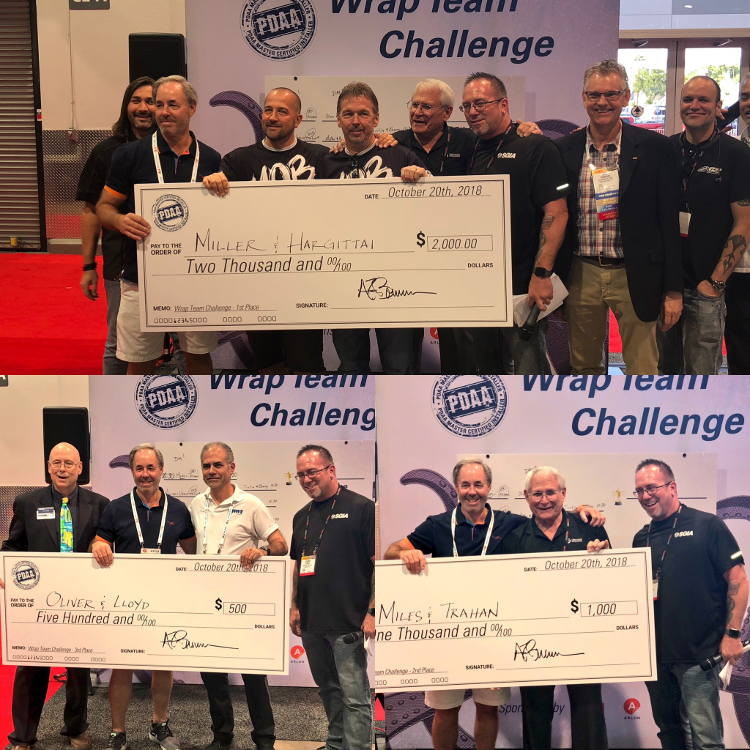 SGIA Expo PDAA Wrap Team Challenge Top Finalists