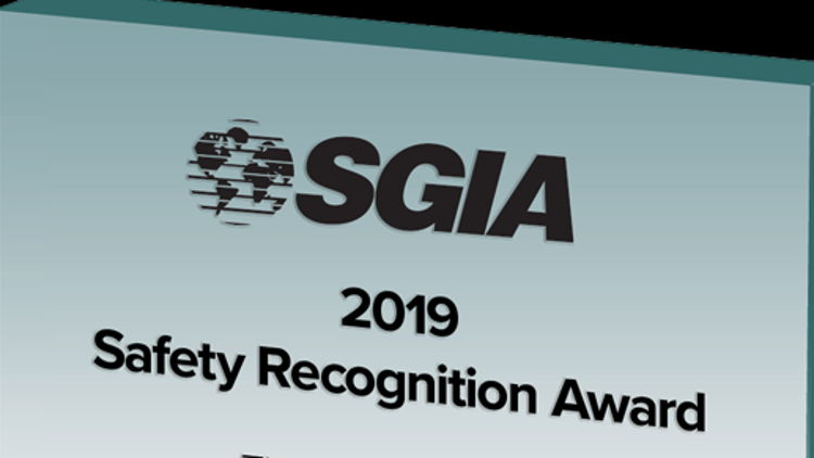 SGIA names 2019 Safety Recognition Award program winners.