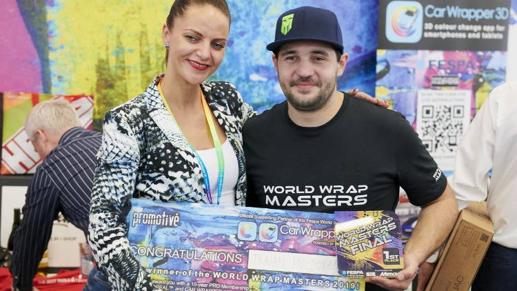 Triain Moldovan crowned World Wrap Masters champion at FESPA Global Print Expo 2019.