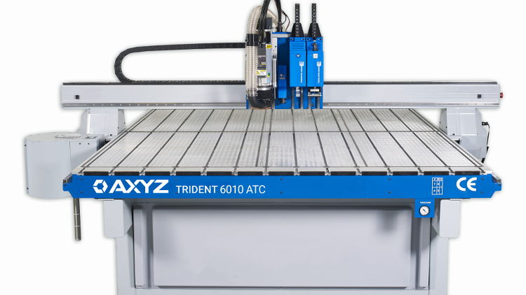 AXYZ to demonstrate Trident print finishing system at FESPA 2020.