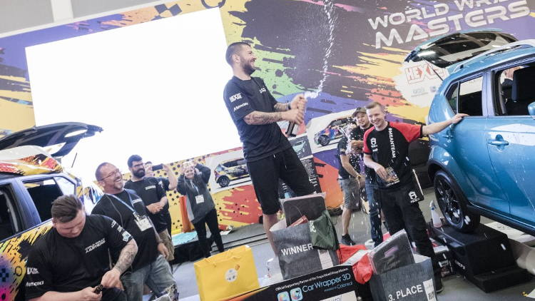 Ivan Tenchev takes World Wrap Masters 2018 title at FESPA Global Print Expo 2018.