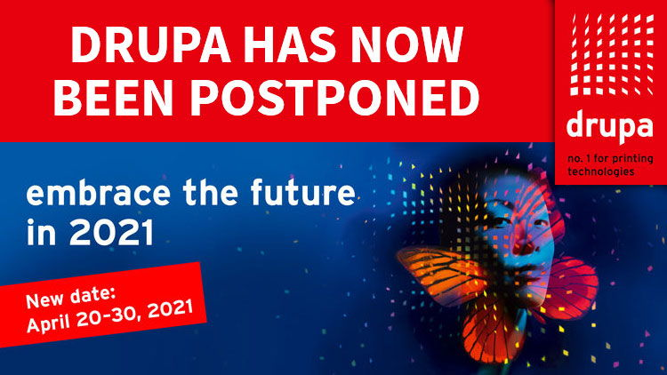 drupa 2020 postponed until 20-30 April 2021.