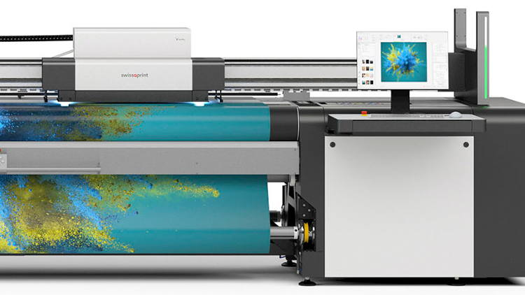 Successful Debut of swissQprint Roll to Roll Printer.