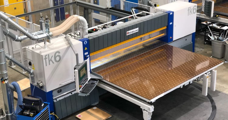Perspex Distribution invest in 3 new Shchelling industrial saws - used to supply their range of UK manufactured substrates.