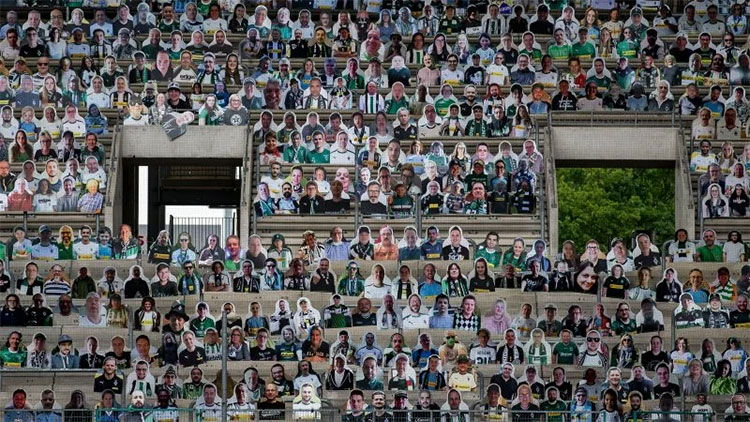 Borussia Monchengladbach print and cut match-day supporters.