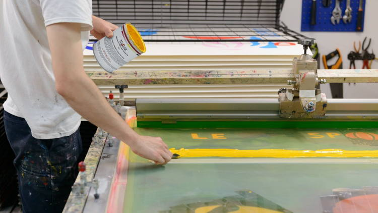 Make-Ready combines silkscreen and digital with Nazdar inks - with stunning results.