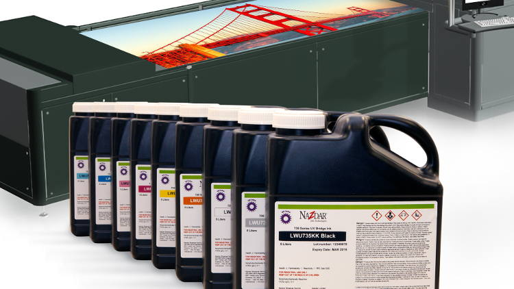 Nazdar Ink Technologies announces new 735 Bridge Series inks for UV inkjet printers.