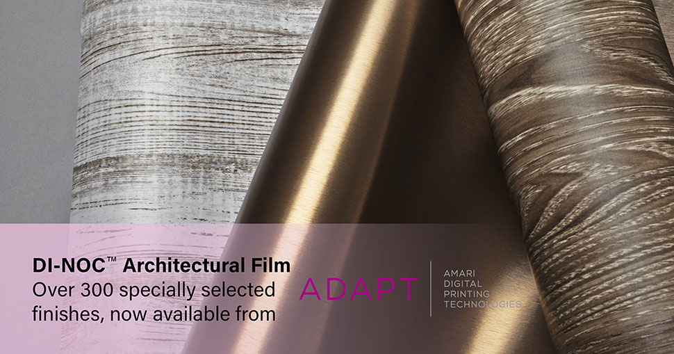 Transform tired interiors and exteriors with the widest ever range of 3M DI-NOC Architectural Finishes from ADAPT.